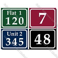 House And Letterbox Numbers And Signs