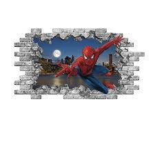 Shop 3d Spiderman Wall Sticker Superhero Hole In The Decals Boys Bedroom On Sale Overstock 31813764