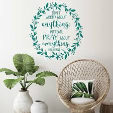 Philippians 4 6 Christian Vinyl Wall Art Stickers Bible Quote Bedroom Decoration Ebay