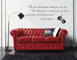Rocky Balboa Inspirational Quote Wall St Buy Online In China At Desertcart