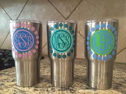 Yeti Decal Yeti Tumbler Decal Custom Yeti Decal Yeti Monogram Decal One Or Two Color Monogram Decal Yeti Yeti Monogram Yeti Decals