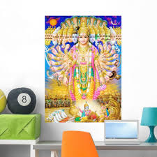 Amazon Com Wallmonkeys Fot 3108913 36 Wm261656 Indian God Krishna In Virat Roop Peel And Stick Wall Decals 36 In H X 26 In W Large Home Kitchen