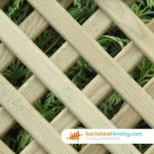 Convex Diamond Privacy Trellis Fence Panels 1ft X 6ft Brown