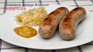 our homemade bratwurst sausage