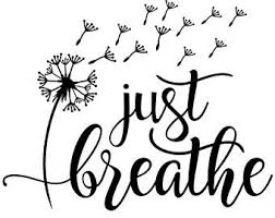 Just Breathe Decal Etsy
