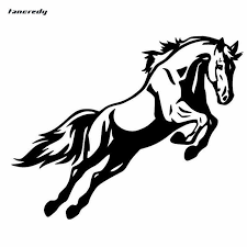 1pcs Jumping Horse Bumper 3d Car Stickers Car Decals And Sticker 19 1 15 2cm Car Body Window Stickers Car Styling Sticker Car Decal Stickers Car Stylingcar Styling Aliexpress