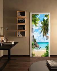 Large Wall Mural Palm Trees Beach Peel Stick 3d Vinyl Wallpaper Modern Decor For Sale Online Ebay