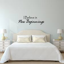 I Believe In New Beginnings Quote Wall Decals Vinyl Wall Art Quote Home Decor Wall Decal