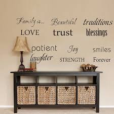 Amazon Com Luckkyy Family Wall Decal Set Of 12 Family Words Quote Vinyl Family Wall Decal Family Room Art Decoration Living Room Decor Decoration For Home Decor Black Baby