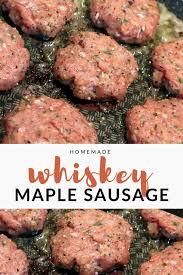 homemade whiskey maple sausage barrel