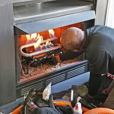gas fireplace insert repair install