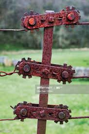 Rusty Fence Tensioner High Res Stock Photo Getty Images