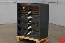 hamilton letterpress type cabinet 24