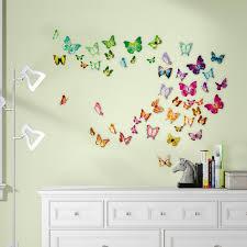 Harriet Bee Beaird Butterfly 3d Colourful Butterfly Wall Sticker Decal Reviews Wayfair