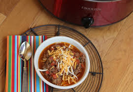 slow cooked homemade chili without