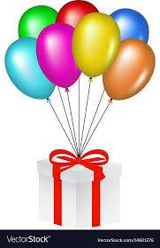 balloons lifting a gift box vector image