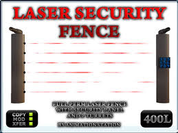 Second Life Marketplace Full Perm Laser Fence Security System With Keypad And Turret Defense By Animation Station