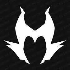 Maleficent Head Silhouette Vinyl Decal The Stickermart