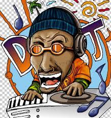 cartoon dj character design dj