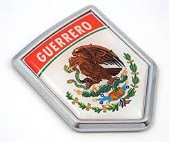 Amazon Com Guerrero Mexico Flag Mexican Car Emblem Chrome Bike Decal 3d Sticker Mx25 Automotive