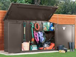8 x 4 easy access metal garden shed