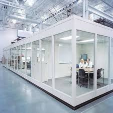 plain glass wall partitions for office