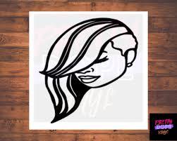 Short Hair Swoop Diva Vinyl Decal Short Hair Black Woman Etsy