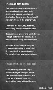 the road not taken poem by robert frost