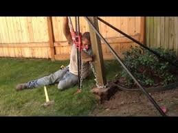 Youtube Wood Post Fence Post Easy Fence