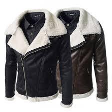 fashion winter sheepskin lined leather