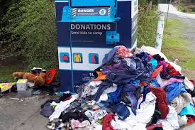 urged not to leave donated clothes