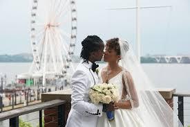 elegant black tie wedding in oxon hill