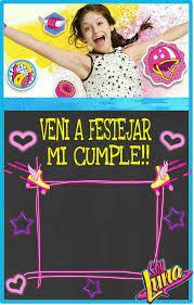 Invitacion Editable Soy Luna Cumpleanos De Soy Luna Decoracion
