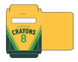 Crayon Box Template Clip Art Library