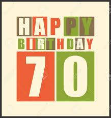 Tarjeta De Cumpleanos Feliz Retro Feliz Cumpleanos 70 Anos