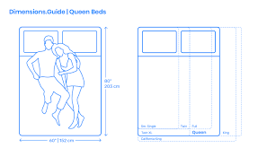 queen size bed dimensions drawings