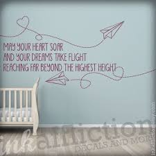 Paper Airplanes Quote Wall Decal Large 48x22 By Inkaffliction 55 00 Airplane Quotes Wall Quotes Decals Wall Quotes