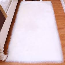 faux fur area rug living room mats