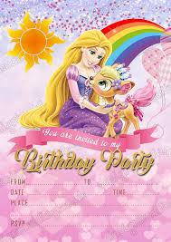 Invitaciones De Fiesta De Cumpleanos De Princesa Disney Rapunzel