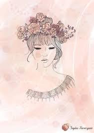 flower crown girl art com