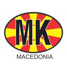 Macedonia Osc2 Colour Oval Car Decal Flags N Gadgets