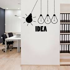 Light Bulb Office Wall Decal Light Bulbs Office Vinyl Wall Decor Graphics Work Idea Creative Creativity Wall Sticker Lz25 Wall Stickers Aliexpress