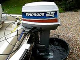 evinrude 25hp start up you
