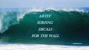 Funky Surfing Wall Decals For The Fish In The Family Check Em Out