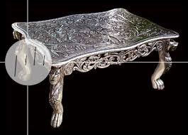 antique silver coffee table