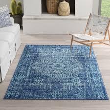mistana cristian navy blue area rug