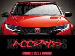 Graffiti Windshield Banner For Fits Honda Accord Decal Sticker Jdm Ivtec Ebay