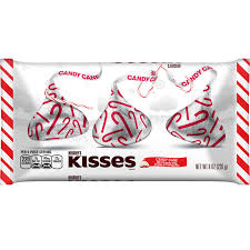 hershey s kisses candy cane