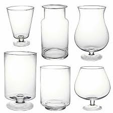 clear glass vase footed centrepiece