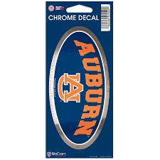 Auburn Tigers Wincraft 3 X 7 Chrome Decal